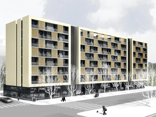 Building of 115 social housing, offices and commercial premises. Viladecans